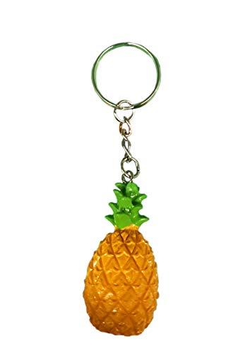 Fun Novelty Llavero de piña Tropical, Naranja, Total Length...