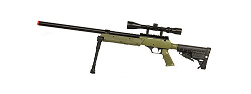 Well SPEC-OPS MB13A APS SR-2 Bolt Action Sniper Rifle Airsoft Gun (OD/Scope & Bipod Package)