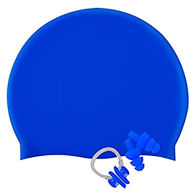 Amazon - 65% Off on Unisex Swim Caps for Long Hair Durable &Flexible Silicone Swimming Caps