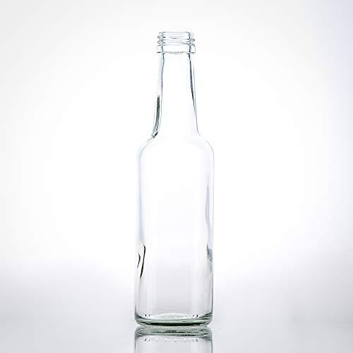 20 Kleine Glasflaschen 250ml (0,25l) mit PP28 Schraubverschluss Gold – Leere, kleine Flaschen zum Befüllen, z.B. kleine Weinflaschen, kleine Schnapsflaschen 250ml, Likörflaschen 250ml