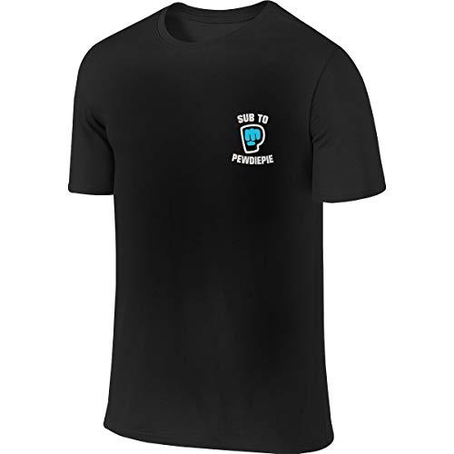 Pewdiepie Jugend Männer T-Shirt Golf Poloshirts Kurzarm S-6xl Casual Fitness Shirts Rundhalsausschnitt Baumwolle Sport Top 4XL