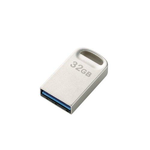 エレコム USBメモリ 32GB USB3.0 超小型 シルバー MF-SU332GSV
