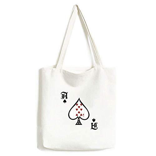 Bolsa de Mano Lavable con diseño de Pala de póquer con Forma de corazón y 8 Cartas