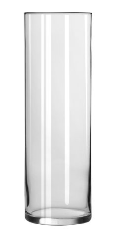 Libbey 10 1/2 Inch Cylinder Vase in Clear, Set of 4