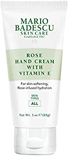 Mario Badescu Rose Hand Cream with Vitamin E, 3 oz