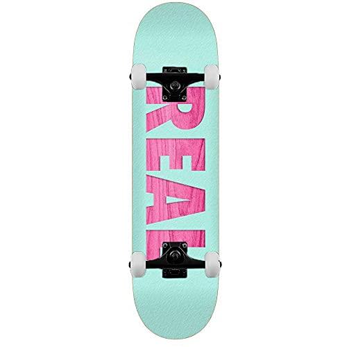 Real Bold Redux - Skateboard completo, 20,6 cm, colore: Blu