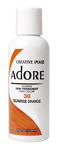 Adore Semi-Permanent Haircolor #038 Sunrise Orange 4 Ounce (118ml)