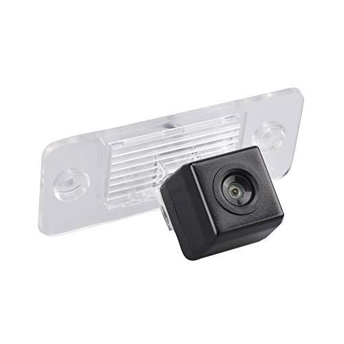 Kalakus Kennezeichenleuchte Rückfahrkamera mit 170° Winkel Rückansicht Park Kamera für VW Skoda Fabia/Passat B5/Bora/Touareg/Tiguan/Santana Skoda Octavia II RS