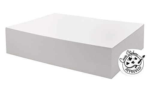 UCreate Watercolor Paper, White, Bulk, 90lb., 9' x 12', 250 Sheets