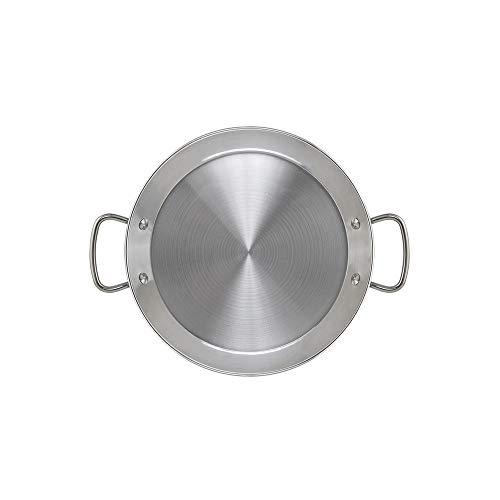 Metaltex - Paellera INDUCCION Acero Inoxidable 5 Raciones (32 cm)