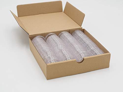 SCHULZ 100 Stück 32,5 mm Innendurchmesser runde Euro-Münzkapseln mit Papierbox für 2 Euro, 10/20/50 Cent Euro-Münzschutz & Münzsammelzubehör