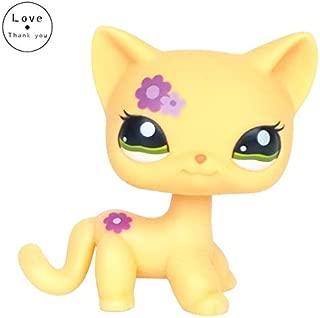 YOYOTOY Lps Real Rare Pet Shop Toys Lovely Rare Black Cat Eyes White Pink Glitter Kitten Animals Kids Gift Toddler Must Haves Gift Ideas Childrens Favourites Superhero Toys Childhood Dream