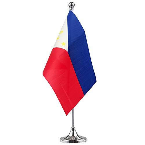 GentleGirl.USA Philippines Flag Filipino Flag Table Flag,Desk Flag,Office Flag,International World Country Flags Banners,Festival Events Celebration,Office Decoration,Desk,Home Decoration