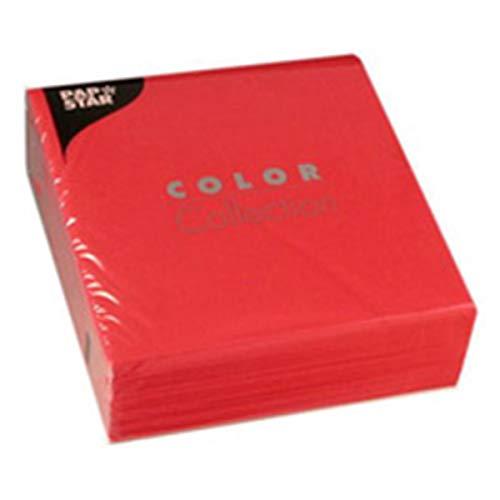 PAPSTAR Serviette de table COLOR Collection 3 plis Bordeaux 33 x 33 cm