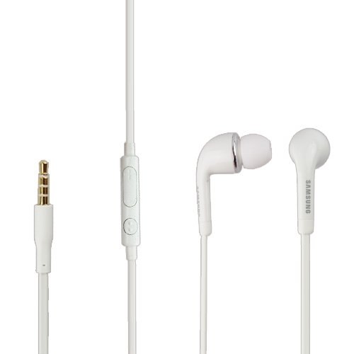 Samsung EO- EG900BW - Auricolari in-ear originali Samsung per SM-G850F Galaxy Alpha, spina 3,5 mm, colore: Bianco