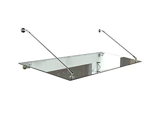 Auvent en verre - Dais Porte - Auvent de la porte - Verre Dais - Porte d'entrée dais verre (Typ - Std, 180x90cm)