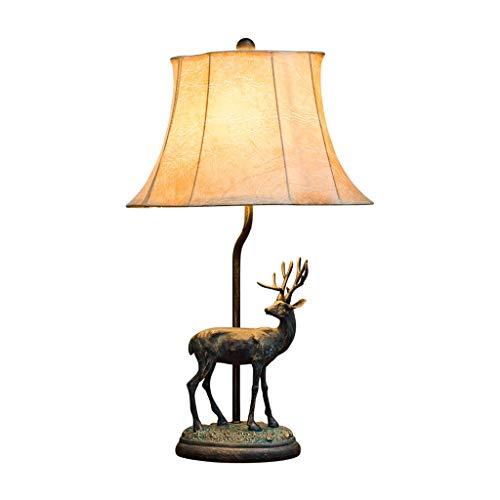 Lámpara de mesa Lámpara de mesa creativa creativa de la tabla de cabecera de la forma de los alces de la lámpara retra, conveniente for el dormitorio / la sala de estar / el estudio Noche Lámpara de M
