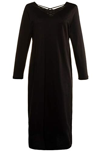 Ulla Popken Damen große Größen Nachthemd schwarz 46/48 726045 10-46+