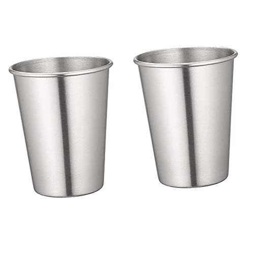 Yueba 2 Piezas Tazas Acero Inoxidable   Vaso de Cerveza de Metal Reutilizable   Taza de Camping apilable   Tazas de Cerveza irrompibles Vasos para Beber para el hogar y los Viajes (30ml)
