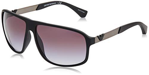 EMPORIO ARMANI 50638G Gafas de sol, Black Rubber, 62 para Hombre