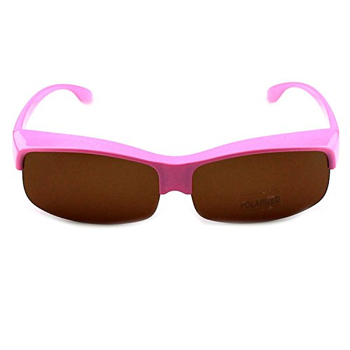 Conjunto de espejo con visión cercana, para hombres y mujeres, el espejo solar es parcial a la luz de conductor, gafas de sol con visión cercana, The Powder Frame Tea Slice,