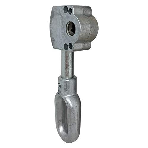DIWARO.® | Schneckengetriebe für Markisen | 3:1 | ovale Zinköse | 7mm Innenvierkant | Markisengetriebe