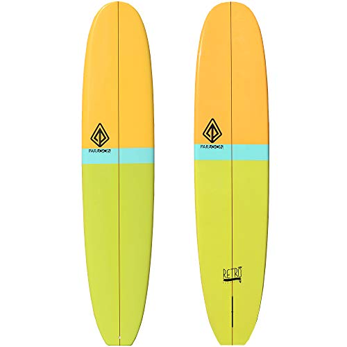 """Paragon Surfboards Retro Noserider Longboard   High-Performance & Fun Single Fin Long Board Surfboard for All Wave Conditions   9'0"""" x 22 3/4"""" x 3 1/16""""   Blue/White"""