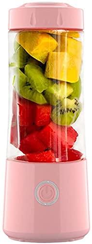 Juicer portátil, licuadora de batido de frutas eléctricas USB, adecuado para mini jugador de procesador de alimentos personales,Pink