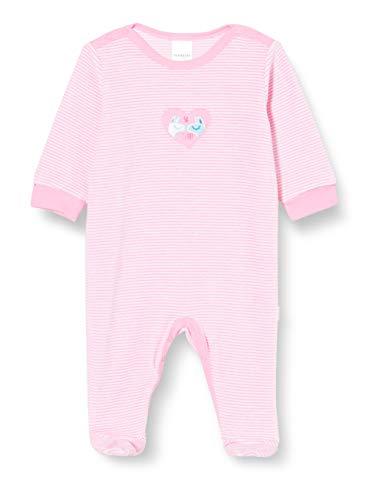 Schiesser Baby-Mädchen Anzug mit Fuß Kleinkind-Schlafanzüge, rosa, 80