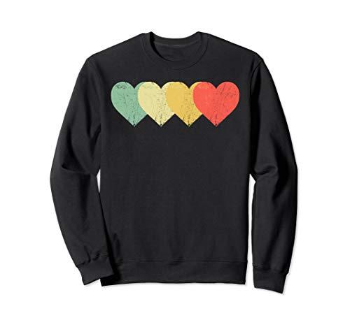 Vintage Herzen, Retro Valentinstag Sweatshirt
