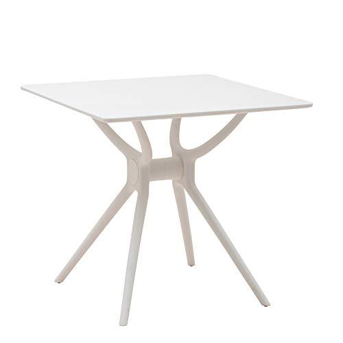 Italian Concept BENG consoletafel met polypropyleen frame en tafelblad van gelakt hout, wit, eenheidsmaat
