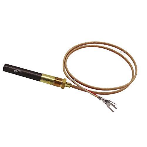 "MENSI Propane Gas Fireplace 750 Millivolt Replacement Thermopile Generators (24"" Glass Fiber Wire)"
