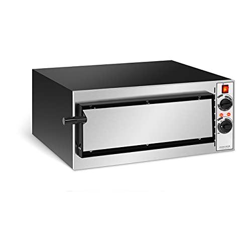 Royal Catering Forno Elettrico Professionale per Pizza Forno per Pizzeria RC-POB140 (1 Camera, Ø 32 cm)