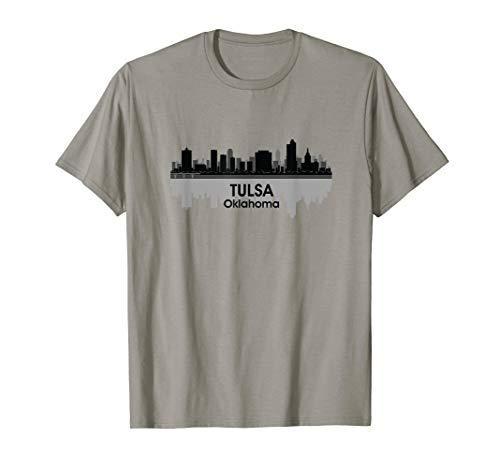 TULSA, OK | City Pride Skyline Silhouette Art Print T-shirt