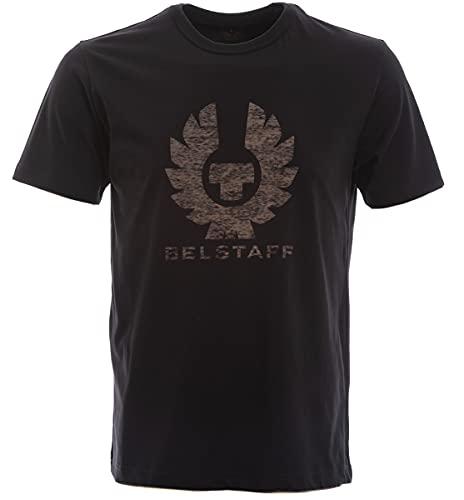 Belstaff Camiseta de algodón para hombre Coteland 2.0 con logo, Negro, L