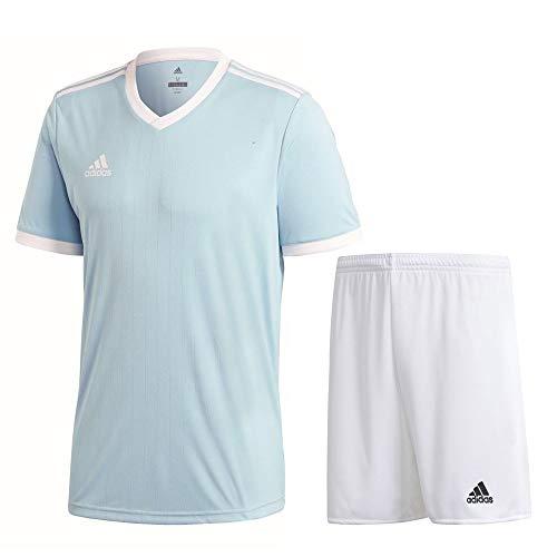 adidas Fußball Tabela 18 Trikotset Trikot Shorts Trainingsset Herren hellblau weiß Gr M