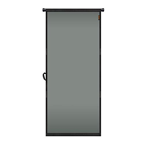"""MAGZO Hanging Screen Door 34"""" x 82"""", Durable Fiberglass Screen Door with Retractable Tension Rod and Hook and Loop Fit Door Size 34"""