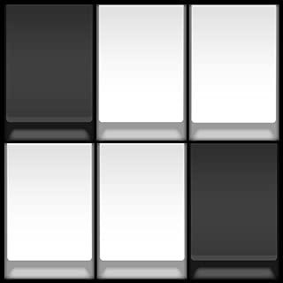 Tap Black: Avoid white piano tile