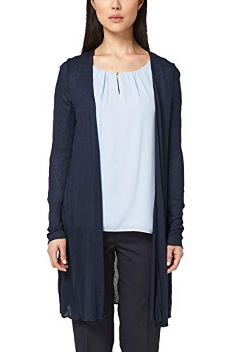s.Oliver BLACK LABEL Damen 01.899.31.5156 Strickjacke, Blau (True Blue 5959), (Herstellergröße: 34)