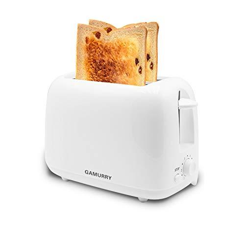 Tostadoras,Tostadora Automática Simple,tostadora doméstico Multifuncional,650W,Función de descongelación,Ajuste de temperatura de 6 velocidades,2 Posiciones Tostado,Apto para rebanadas de pan de molde