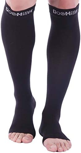 Doc Miller Open Toe Compression Socks 1 Pair 15 20 mmHg Firm Support product image