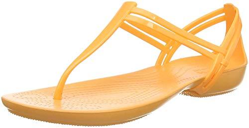 Crocs Damen Isabella T Strap Slip On Sandalen, Orange (Cantaloupe 801), 41 EU