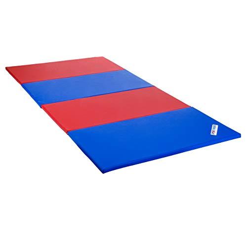 Sport-Thieme Faltmatte, 300x120x3 cm, Blau-Gelb-Grün-Rot
