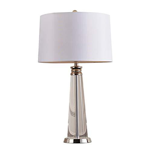 SHUTING2020 lámpara de Mesa Cristal Moderno Lámpara de Mesa de Cristal Dormitorio Lámpara de cabecera Sala de Estar Hotel Moda Lámpara de Mesa Lámpara de Tela Pantalla Lámpara Noche (Size : M)
