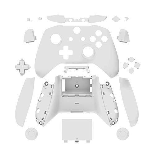 uirend Housing Faceplate Handles Controller - Replacement Full Housing Case Front Back Shell Cover Faceplates for Microsoft Xbox One Slim Wireless Controller Matte (White)