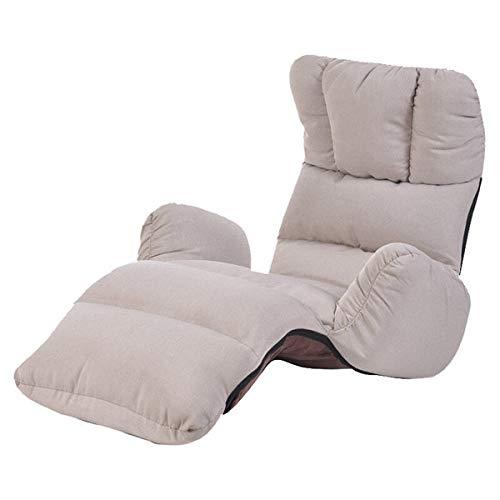 Stoel LKU Fauteuil vloer zitmeubilair 4 kleuren moderne opvouwbare luie fauteuil slaapbank slaapbank fauteuil, grijze kleur