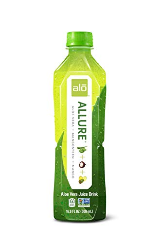ALO Allure Aloe Vera Juice Drink, Mangosteen + Mango, 16.9 Fl Oz (Pack of 12)