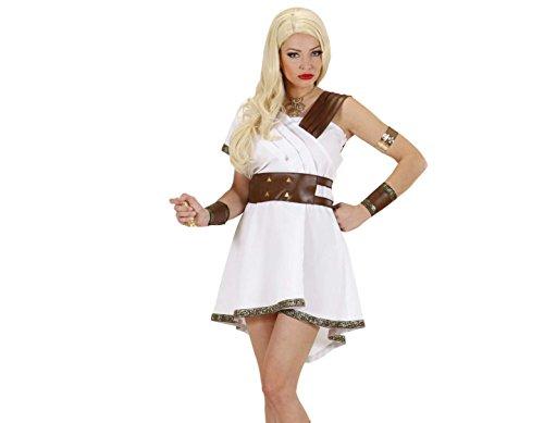 Widmann 89762 - Erwachsenenkostüm Olympia Kriegerin - Kleid, Gürtel und Armbänder, Größe M, Mehrfarbig