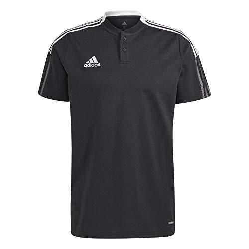 adidas GM7367 TIRO21 Polo Polo Shirt Mens Black L