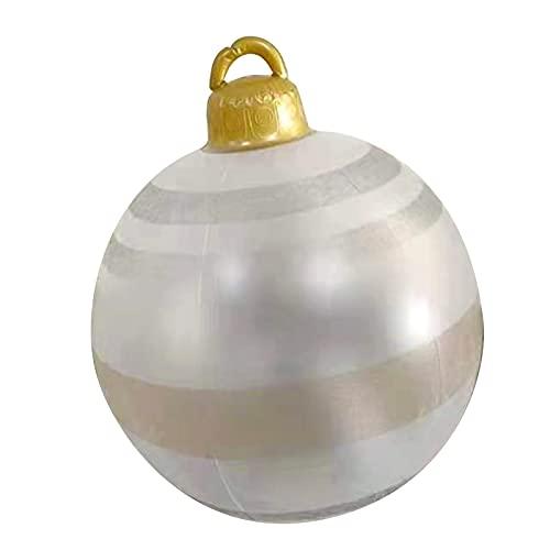Natale gonfiabili all'aperto atmosfera all'aperto decorazioni palle, PvP gigante decorata da 23.6 pollici Attraente PVC Party Ball Toy Decor per Yard Home Garden festivo regalo palloncini Natale 7.